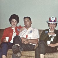 05/66 - District 4C-4 Convention, Hoberg's Resort, Lake County - Estelle and Lion Charlie Bottarini with (wife) during one of the down times.
