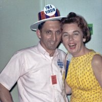 05/66 - District 4C-4 Convention, Hoberg's Resort, Lake County - Lion Charlie Bottarini and (wife) enjoying the hospitality room.