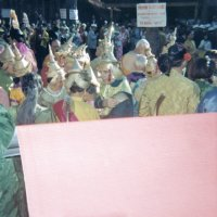 05/68 - District 4C-4 Convention, Hoberg's Resort, Lake County - Costume Parade - The chaos following the costume parade.