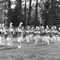 May 1970 - District 4-C4 Convention @ Hoberg's Resort, Lake County - The Geneva-Excelsior Lions on parade. L to R; 1st row: member, Al Kleinbach, member, member. 2nd row: wife, Pat Ferrera, Maryann Blum, and Estelle Bottarini. 3rd row: Emma Giuffre, Anne Benetti, wife, member. 4th row: Pauline Woodall, Ted Zagorewicz, wife, and Bob Woodall. 5th row: Pat Martin, Gino Benetti, and wife.