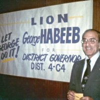April - May 1978 Lion George Habeeb on the campaign trail running for District 4C-4 Governor