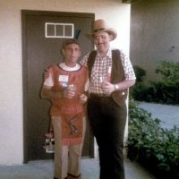 5/9/84 - District 4-C4 Convention, El Rancho Tropicana, Santa Rosa - Wednesday evening's Western Barbecue - Charlie Bottarini and Handford Clews.