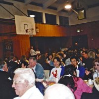 2/26/05 - Crab Feed at Recreation Center For the Handicapped, San Francisco - 429 attending - everyone enjoying diner.