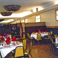 3/19/05 - Ladies Luncheon honoring our late Lions, Italian American Social Club - Prepared tables awaiting members and guests.