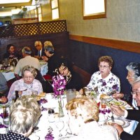 3/19/05 - Ladies Luncheon honoring our late Lions, Italian American Social Club - closest table, left: Lion Mike Castagnetto, Vernelle Wildenradt, guest, guest, Emily and Joe Farrah, and Irene Tonelli (back to camera). Far table: Lion Ted Wildenradt (white shirt), Jeanette Pavini, guest, Lion Galdo and Pat Pavini, guest, Lion Charlie and Estelle Bottarini.