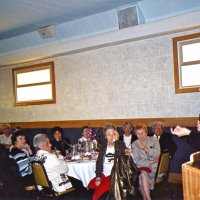 3/19/05 - Ladies Luncheon honoring our late Lions, Italian American Social Club - Jeanette Pavini, guest speaker, making her presentation as members and guests look on.