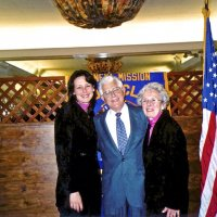 3/19/05 - Ladies Luncheon honoring our late Lions, Italian American Social Club - Jeanette Pavini, guest speaker, with her parents, Lion Galdo and Pat Pavini.