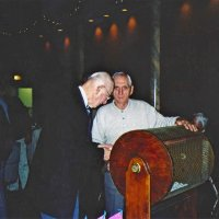 11/27/05 - 27th Annual Giulio Francesconi Charity Raffle Drawing at the Italian American Social Club - Lion Ted Wildenradt just getting ready to place his numbered ball in the drum with Lion Charlie Bottarini.