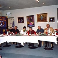 12/7/05 - Club Christmas Party at the Sharp Park Golf Course Restaurant, Pacifica - Lion Ward and Diane Donnelly, Lion Mike and Lorraine Castagnetto, Estelle and Lion Charlie Bottarini, Lion Dick Johnson, and Emily and Lion Joe Farrah enjoying the party.