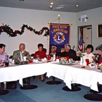 12/7/05 - Club Christmas Party at the Sharp Park Golf Course Restaurant, Pacifica - Lion George and Kathy Salet, Lion Ward and Diane Donnelly, Lion Mike and Lorraine Castagnetto, and Estelle and Lion Charlie Bottarini enjoying the party.