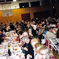 2/25/06 - 24th Annual Crab Feed at the Janet Pomeroy Center For The Handicapped - 470 attendees - Lions and guests, just seated, patiently waiting for food to be served.