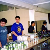 12/12/05 - Lowell Leo Club at Coventry Presbyterian Church - Leo members working with the Coventry Food Pantry.