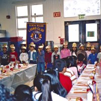 11/22/05 - Mission Educational Center, San Francisco - Students in one of the grades setting up to sing a song prior to lunch.