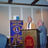 7/30/05 - United Irish Cultural Center - 55th Installation of Officers - Lion Aaron Straus leading up to presenting Lion Bob Lawhon with his Past President's plaque.