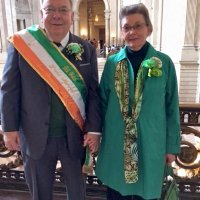 3/17/18 - Facebook - Lion Bill Welch and Betty Welch at City Hall. Lion Bill was the Grand Marshal for the St. Patrick's Day Parade.