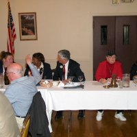 10/18/17 - District 4-C4 Governor Mario Benavente's Official Visitation, Italian American Social Club - Table on left: Lions Ward Donnelly and Bill Graziano. Head table: Lions ZC Maryah Tucker, 1st VDG Lynda Taylor Bellinger, DG Mario Benavente, President Sharon Eberhardt, and 2nd VDG Helen Casaclang.
