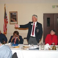 10/18/17 - District 4-C4 Governor Mario Benavente's Official Visitation, Italian American Social Club - Table on left: Lions Ward Donnelly and Bill Graziano. Head table: Lions ZC Maryah Tucker, 1st VDG Lynda Taylor Bellinger, DG Mario Benavente, and President Sharon Eberhardt.