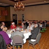 12/20/17 - Geneva-Excelsior Lions Christmas Party, Basque Cultural Center - Lions and guest enjoying dinner in the Grand Ballroom.