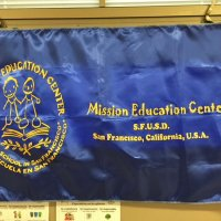 11/16/17 - Serving Thanksgiving Luncheon, Mission Educational Center - Mission Educational Center's banner.
