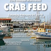 2/24/18 - 33rd Annual Crab Feed - Crab Feed Flyer