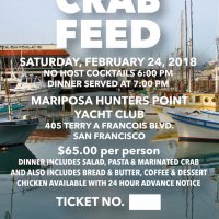 2/24/18 - 33rd Annual Crab Feed - Crab Feed Ticket