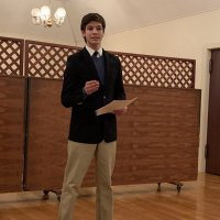 1/15/20 - Student Speaker Contest at the I.A.S.C - Student Michael Gray delivering his speach during the contest.