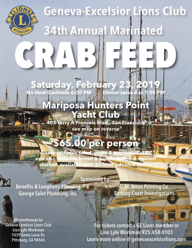 2019 Crab Feed Flyer