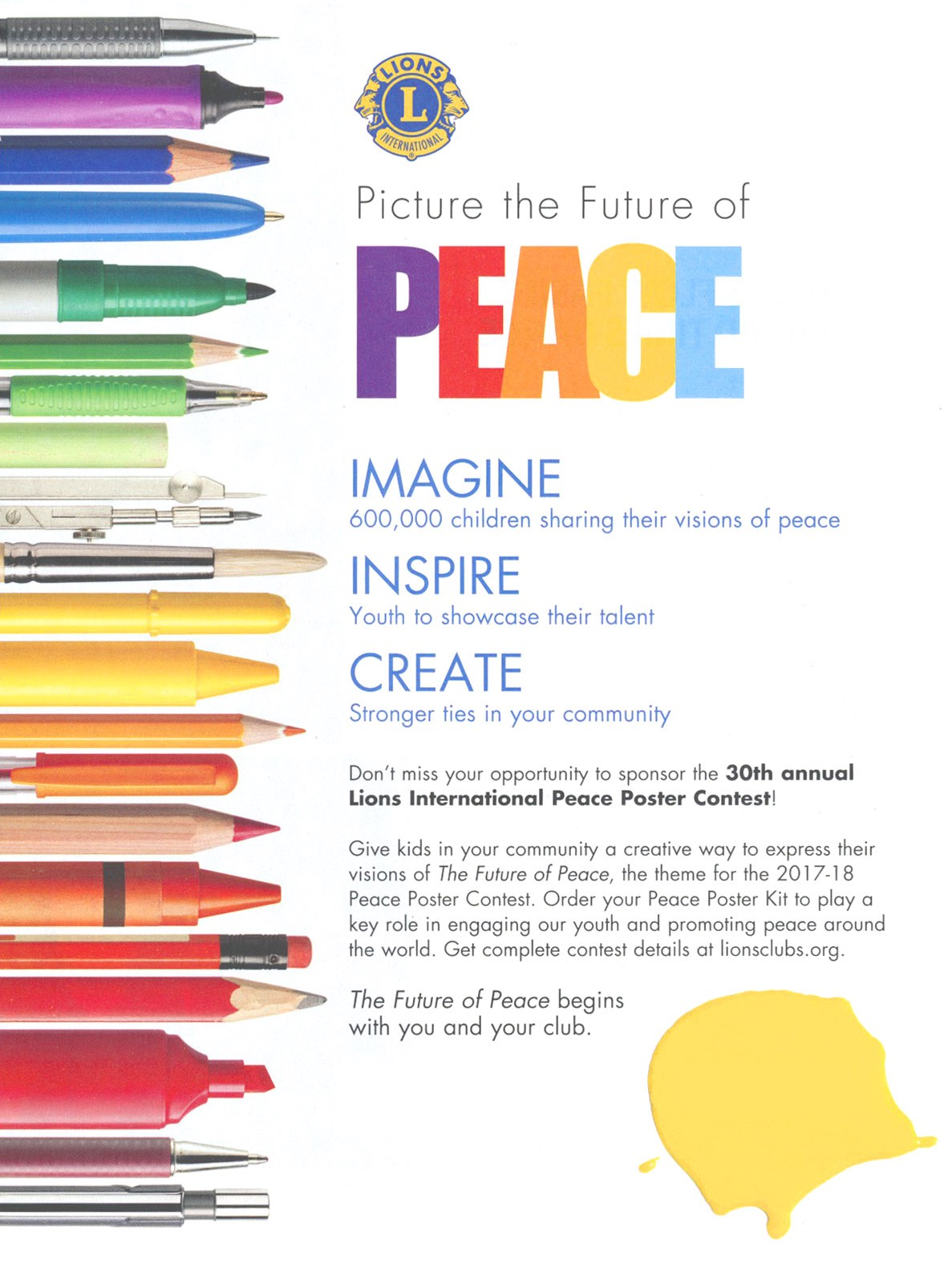 Announcing the 2017-18 Peace Poster Contest